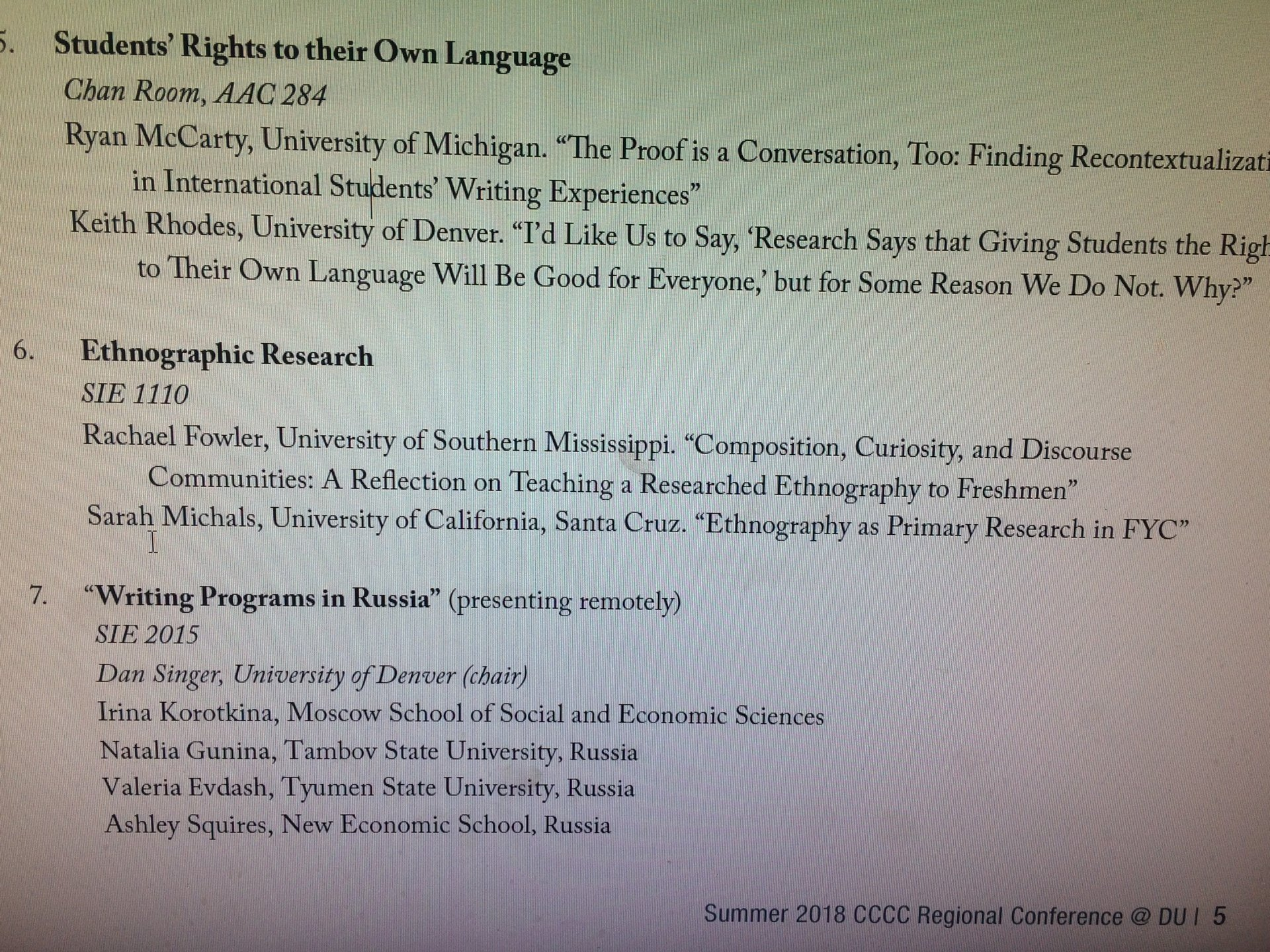 students right to their own language